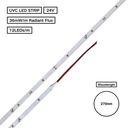 YUJILEDS® UVC 270nm 3535 LED Flexible Strip for Germicidal Disinfection