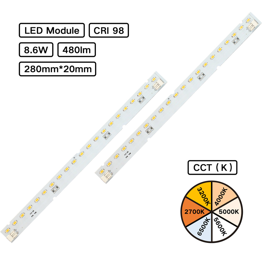 YUJILEDS® Full Spectrum CRI 98 MCPCB LED Module - Pack: 10pcs