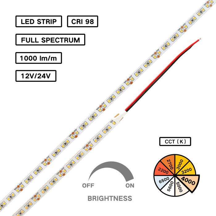Full Spectrum High CRI 98 LED Flexible Strip –neutral white for Jewelry Lighting