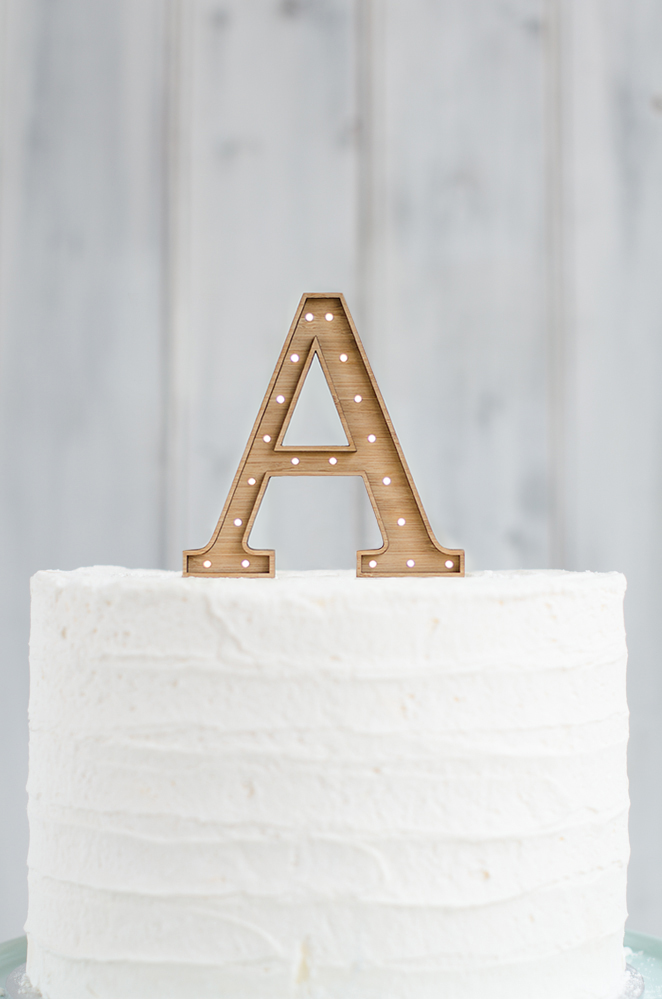 Marquee Cake Topper (Without Lights) - Single Letter