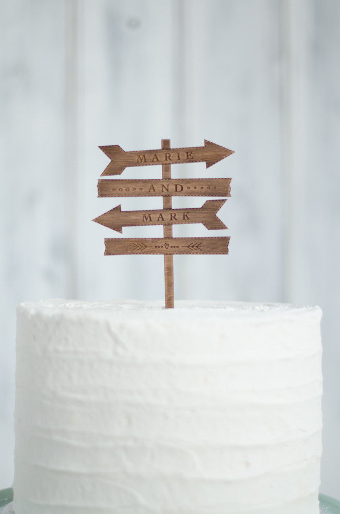 Sign Post Cake Topper