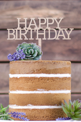 Cake Topper - Happy Birthday standard