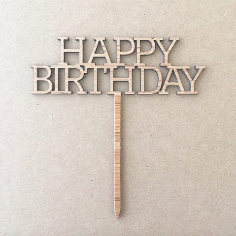 Cupcake Topper - HAPPY BIRTHDAY