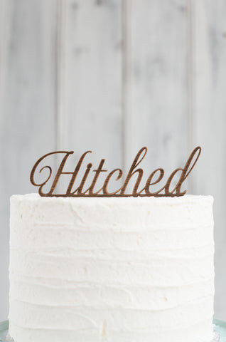 Cake Topper - Hitched Swirl