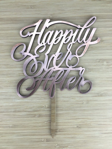 Copper Happily Ever After Cake Topper