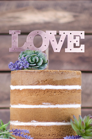 Copper Cake Topper LOVE