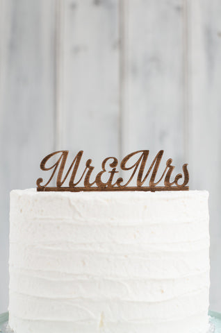 Cake Topper - Mr & Mrs Swirl