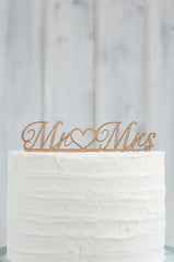 Cake Topper - Mr heart Mrs