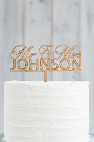 Cake Topper - Custom Mr & Mrs