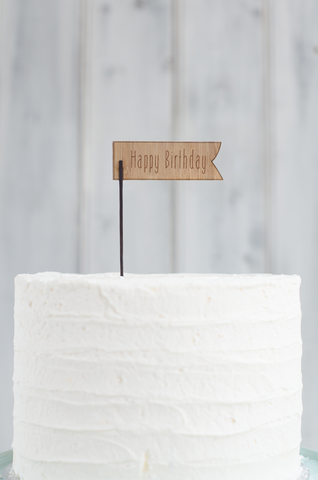 Wooden Cake Flag 2 with custom text