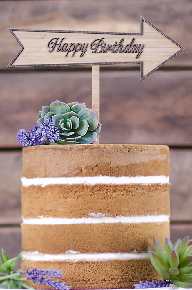 Cake Topper - Happy Birthday Arrow