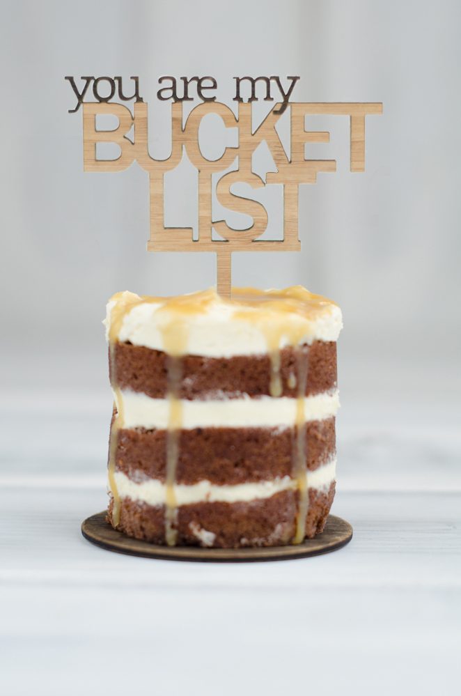 Cupcake Topper - You are my Bucket List