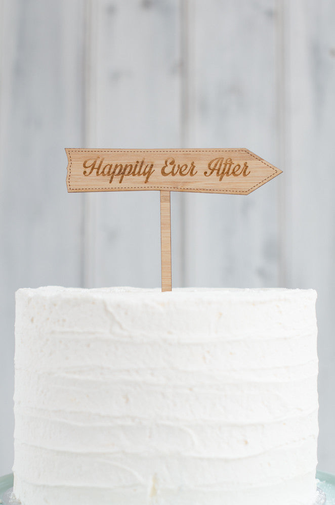Cake Topper - Happily Ever After Arrow