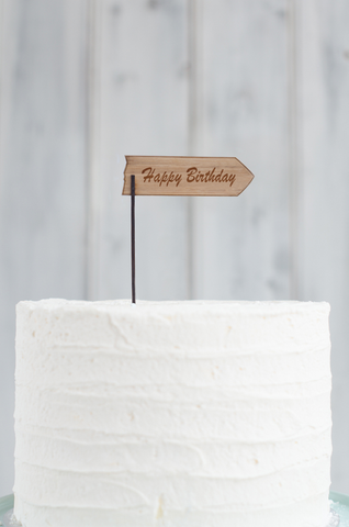 Wooden Cake Flag 1 with custom text