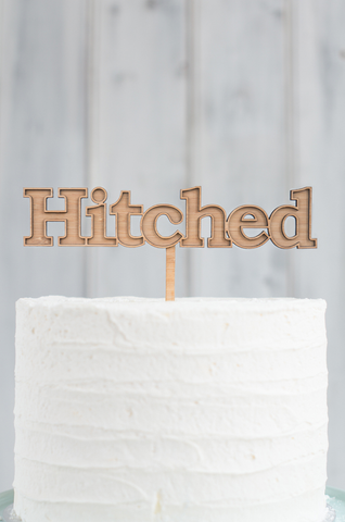 A NEW - Marquee Hitched Cake Topper
