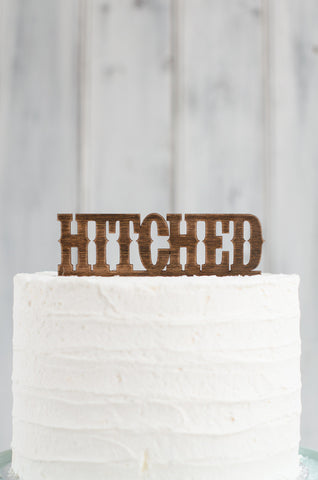 Cake Topper - Hitched Western