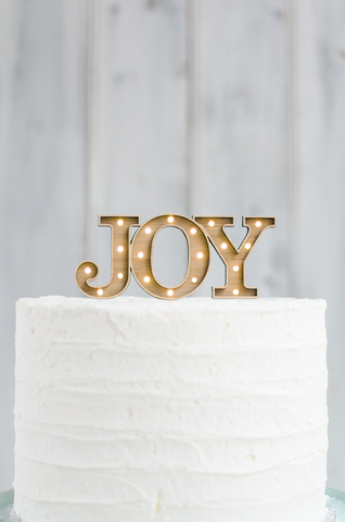 Light Up Cake Topper - JOY