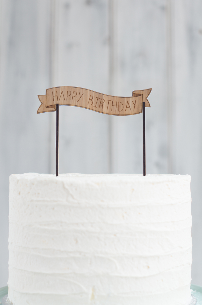Wooden Cake Banner with custom text