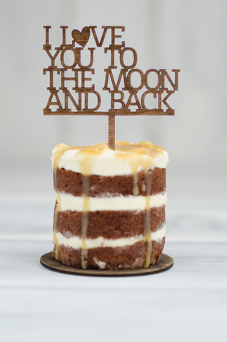 Cupcake Topper - To The Moon and Back