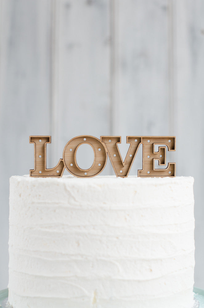 Marquee Cake Topper - LOVE