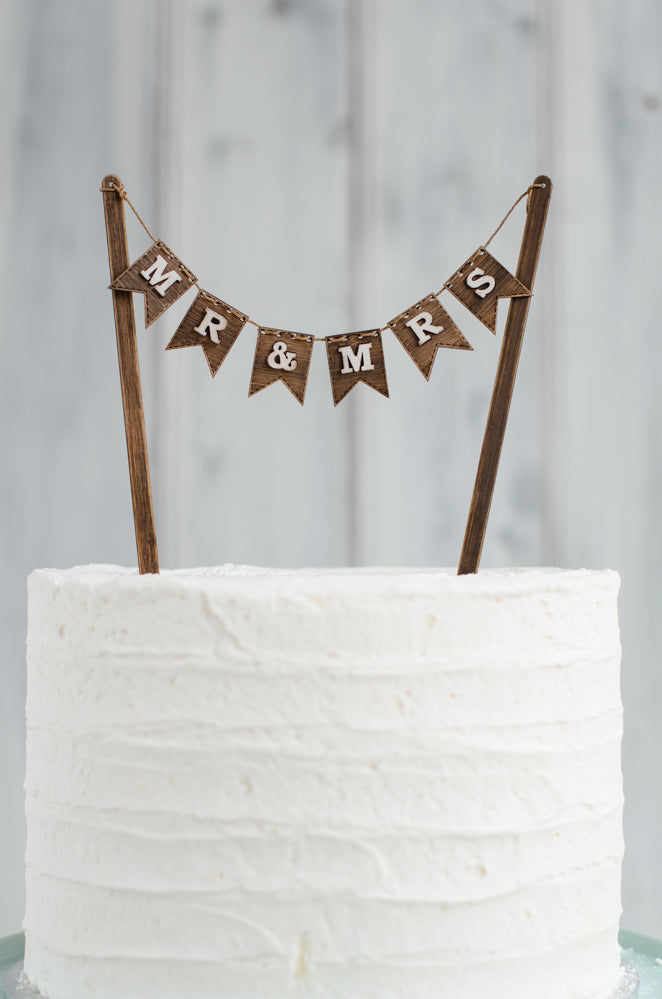 bunting wedding cake topper cake topper grain amp co 12226