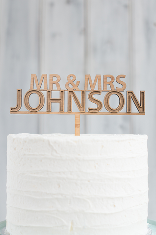 A NEW - Marquee Mr & Mrs Custom