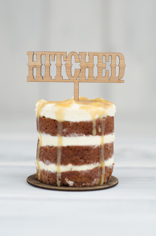 Cupcake Topper - Hitched 1