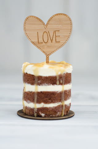 Cupcake Topper - Love Heart
