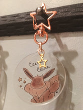 Load image into Gallery viewer, Pika and Eev Acrylic Charm Keychains