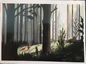 Witch in the Woods Print