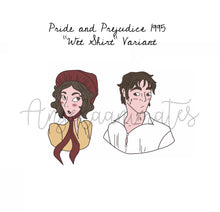 Load image into Gallery viewer, Pride and Prejudice 1995 Wet Shirt Variant Enamel Pin Set