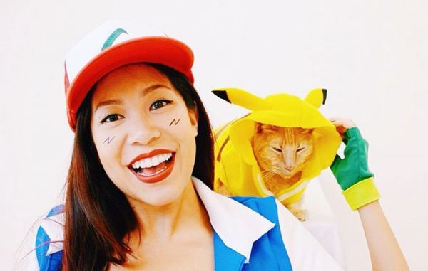 cat couple costume