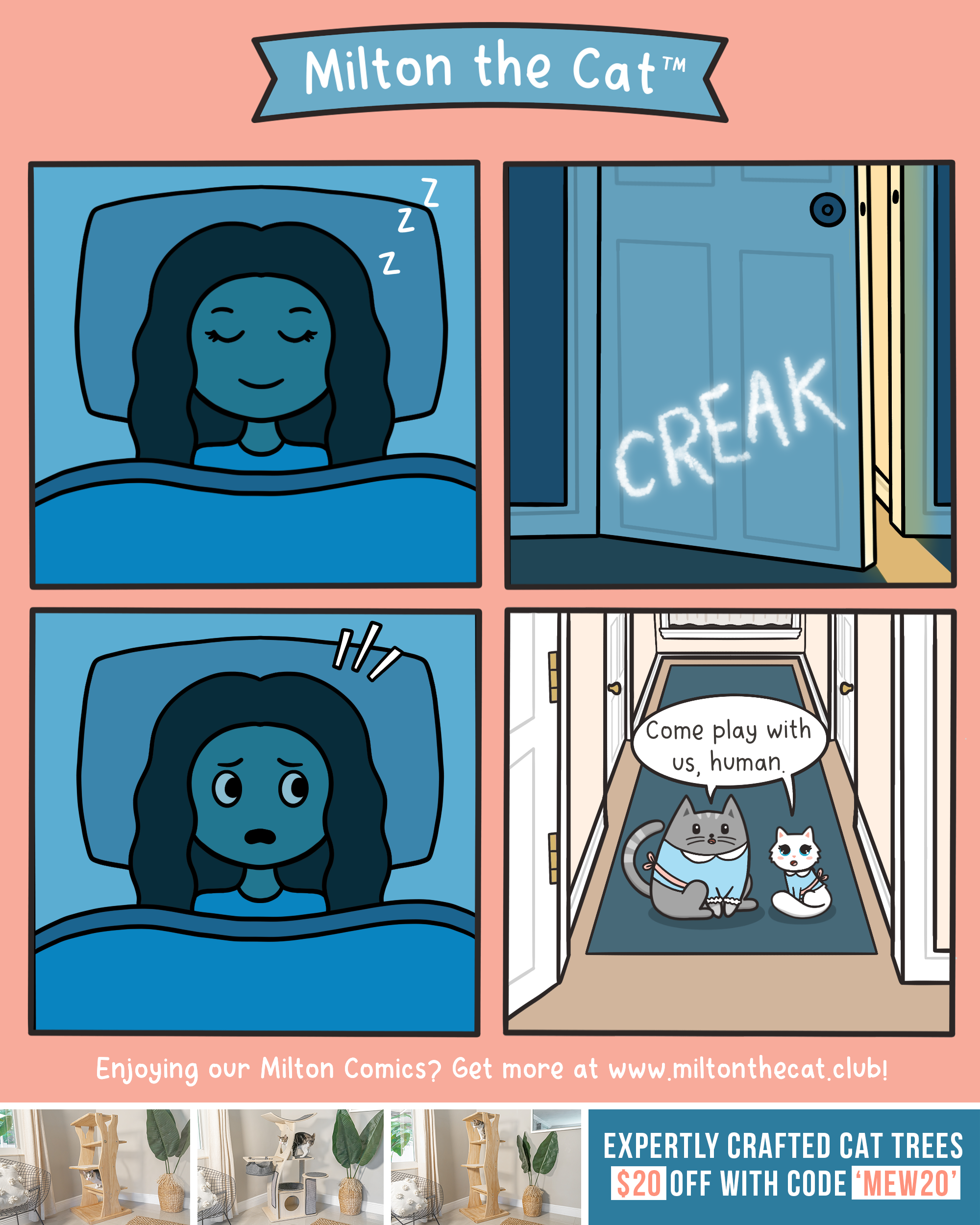 milton the cat daily comic spooky the shining the meowing