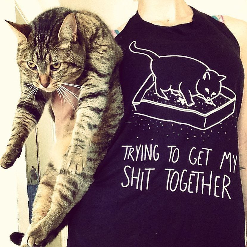 shit together t-shirt cat litter box shirt
