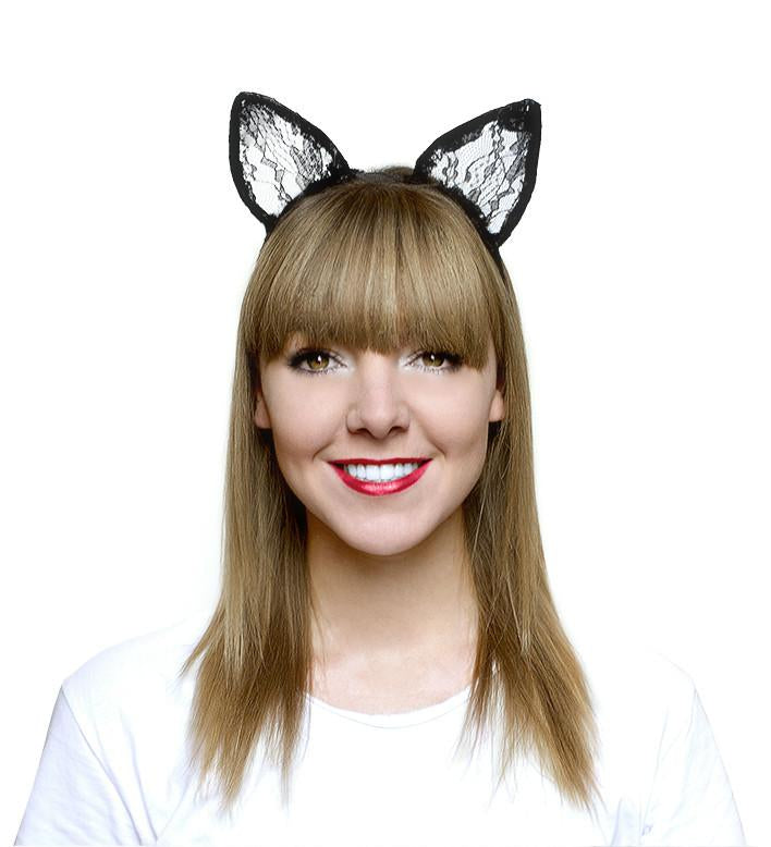 Boudoir Black Cat Ears Headband