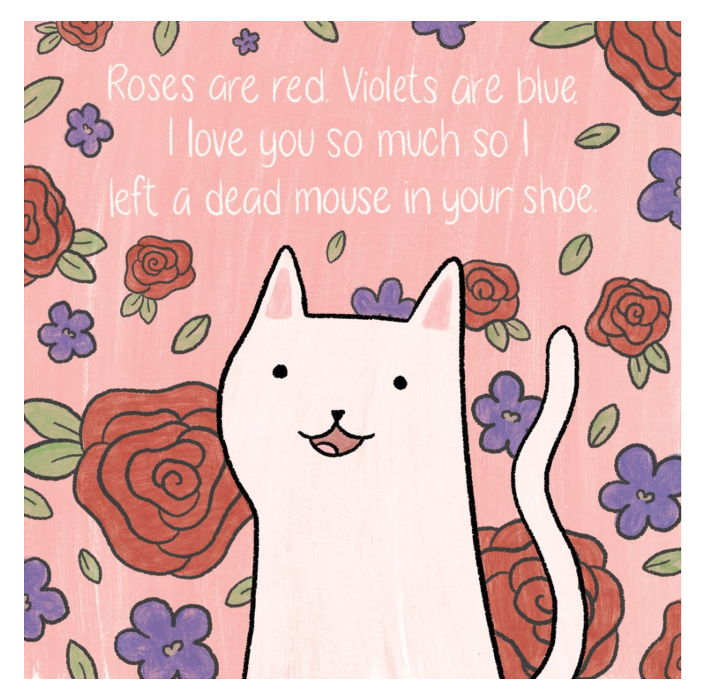 blank cat greeting card cat stationary