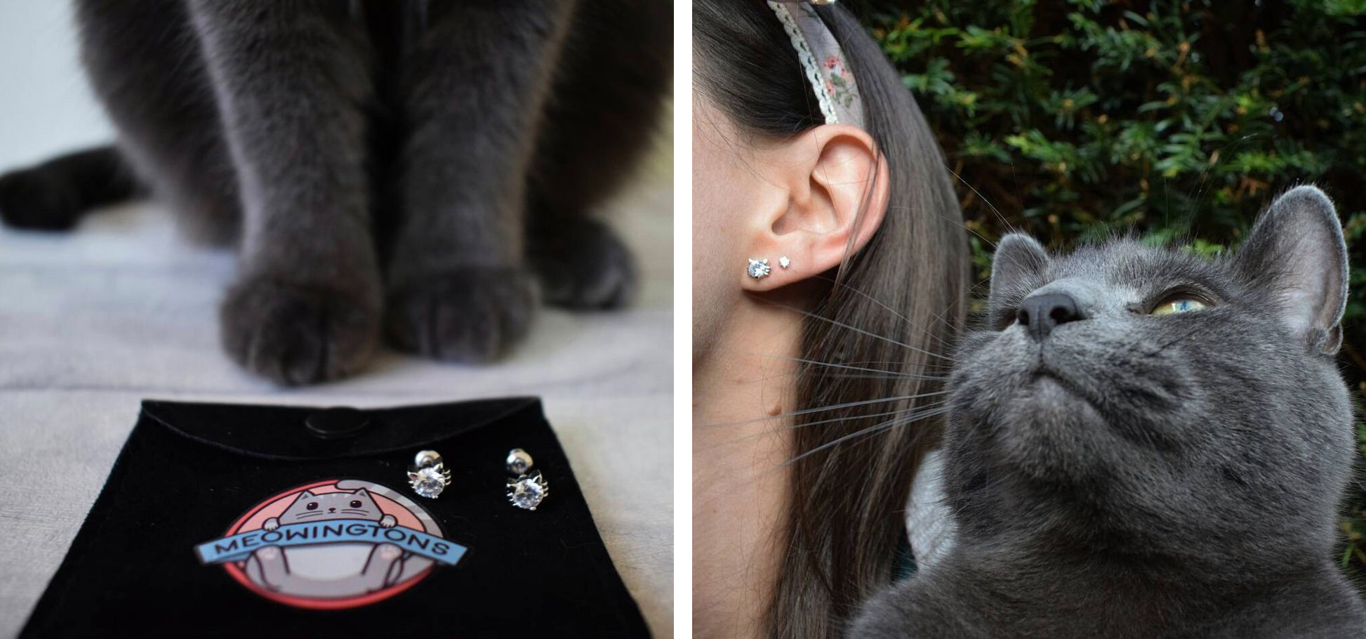 Cat Stud Earrings Mother's Day