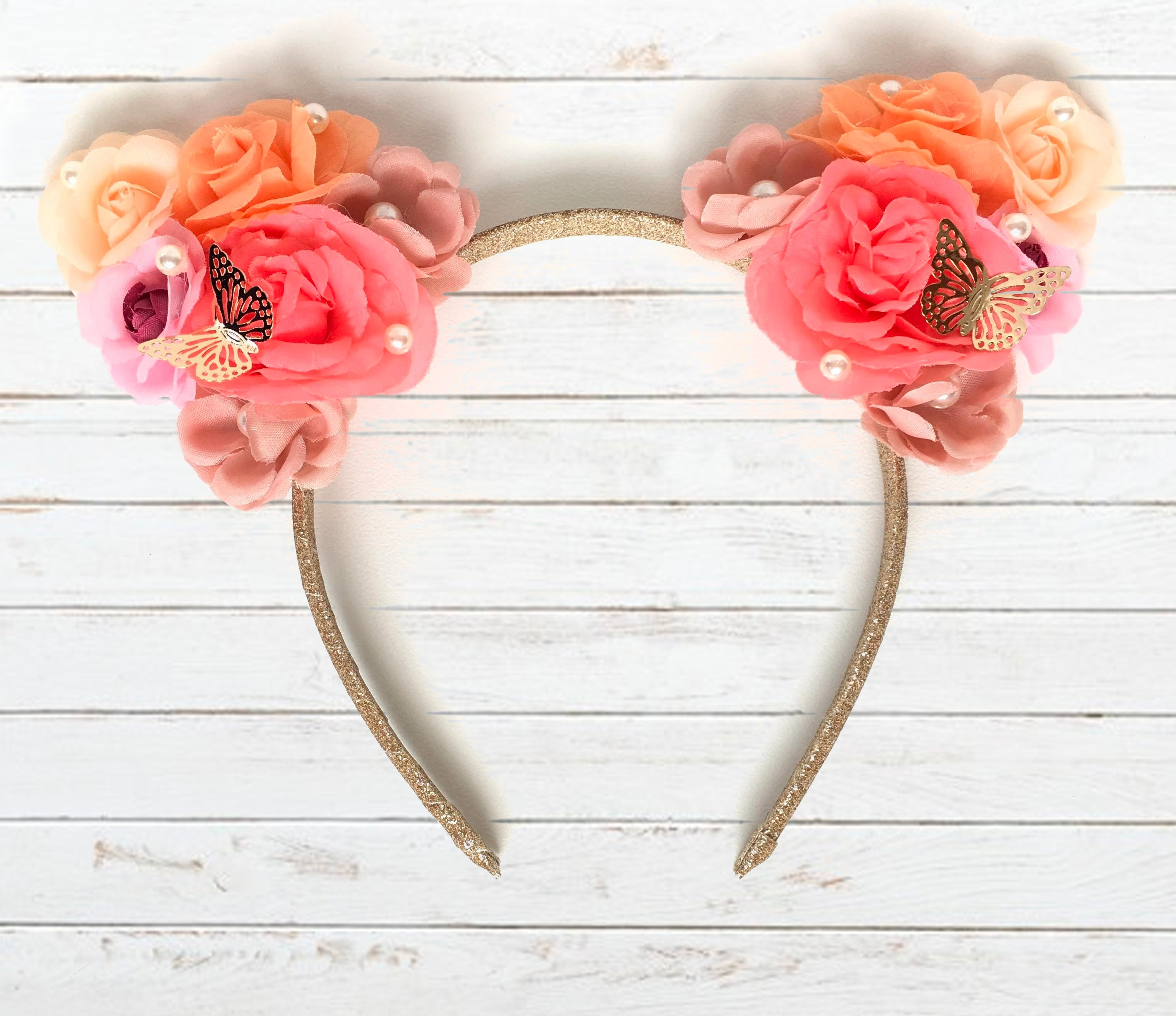 floral garden cat ears headband