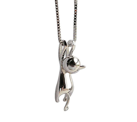 meowingtons cat kitty love hanging cat necklace