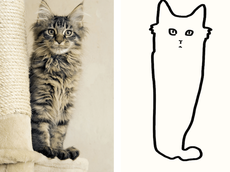 Minimalist Cat Art On Reddit Will Change The Way You Look At Cats Meowingtons