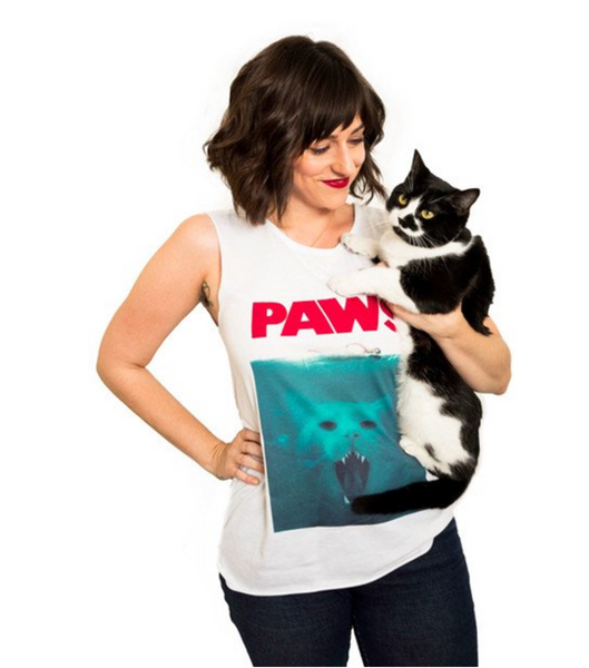 jaws parody paws paws tank top cat shark tank