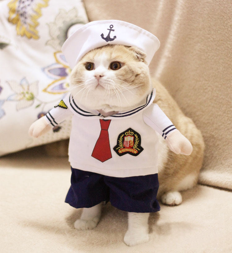 sailor cat costume navy cat costume