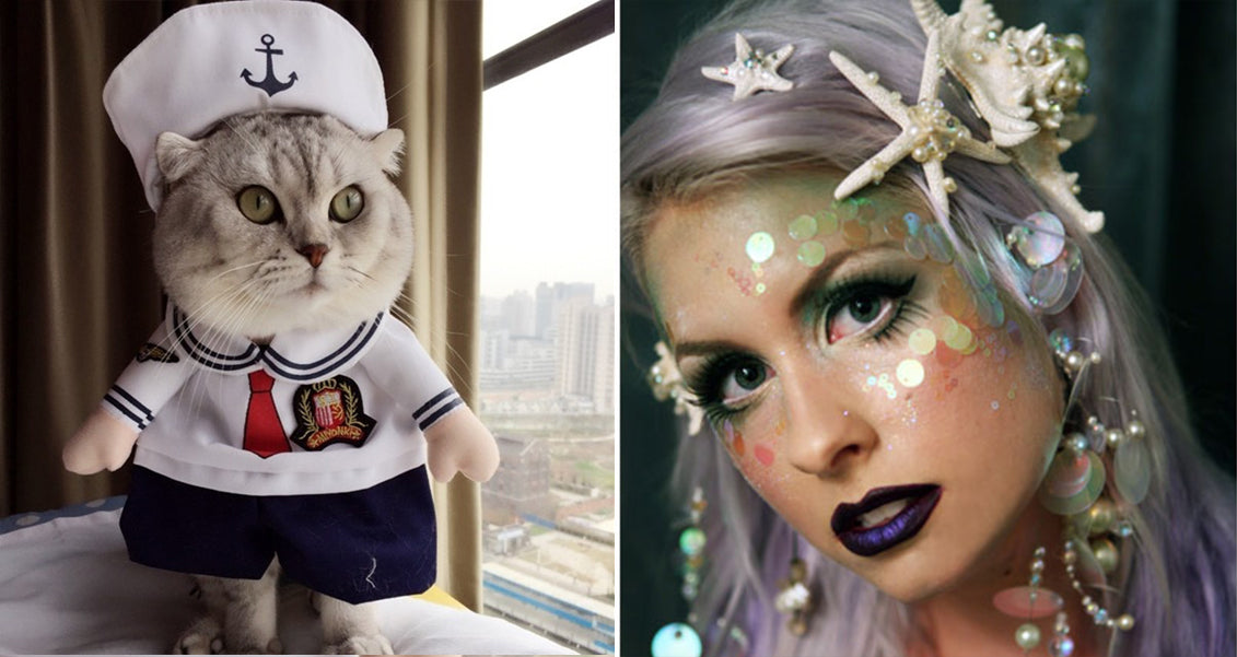 mermaid cat costume sailor cat costume