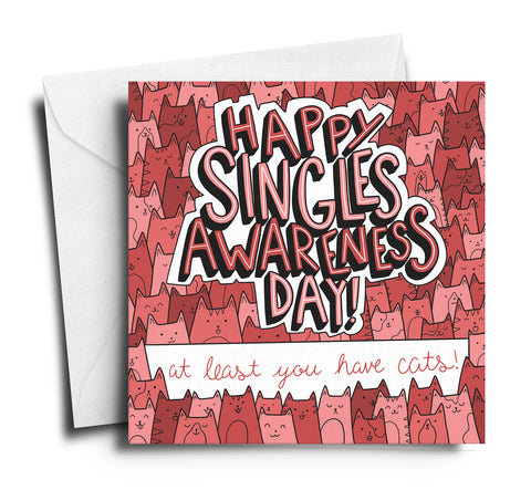 singles awareness day singles appreciation day 2017 meowingtons cat valentine