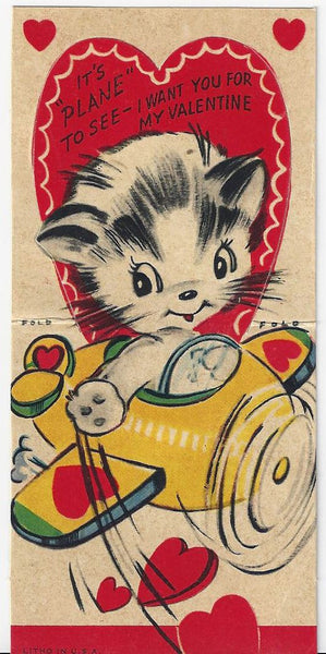 vintage valentines day cards vintage cats