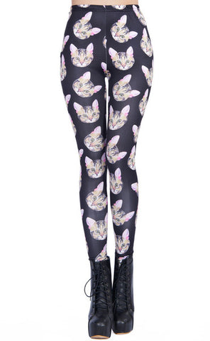 meowingtons cat themed apparel yoga pants