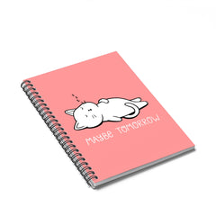 Maybe Tomorrow Cat Notebook
