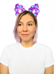 LED Floral Cat Ears Headband