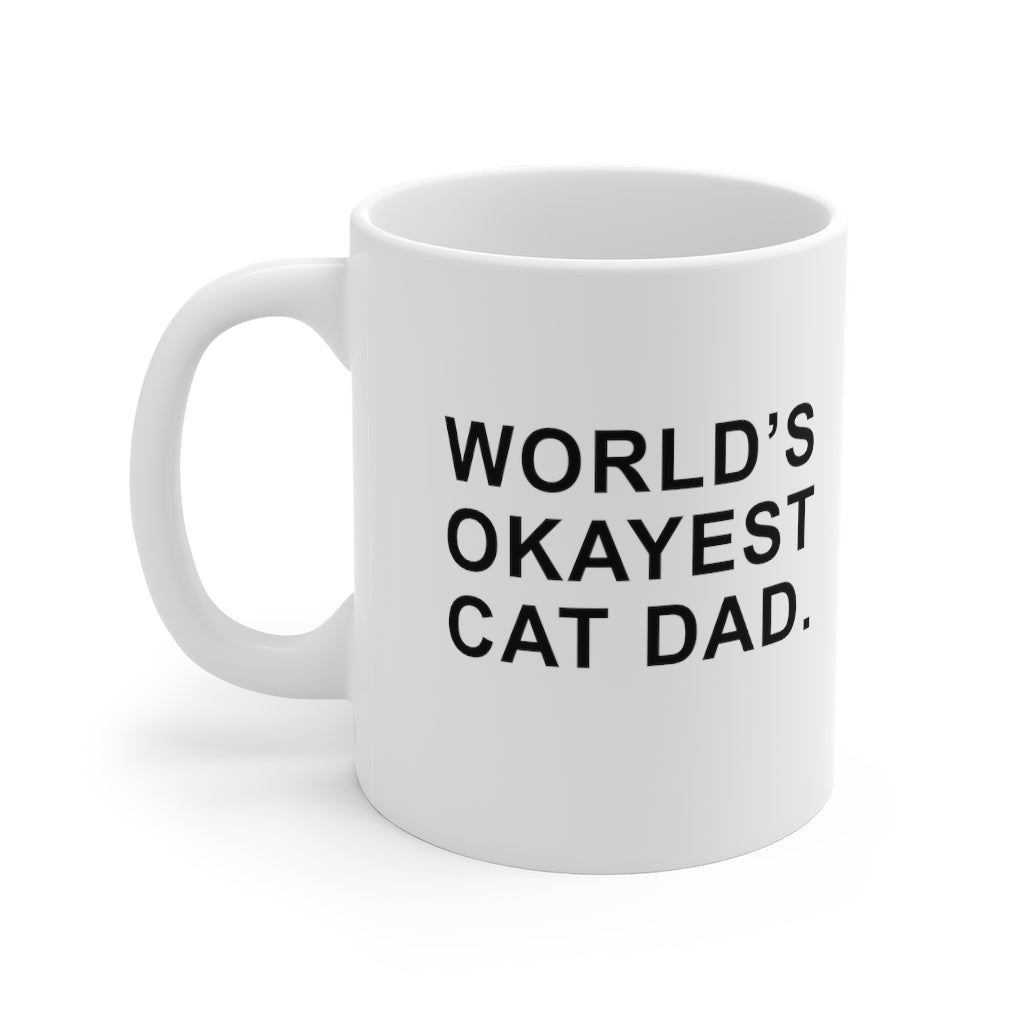 World's Okayest Cat Dad Mug
