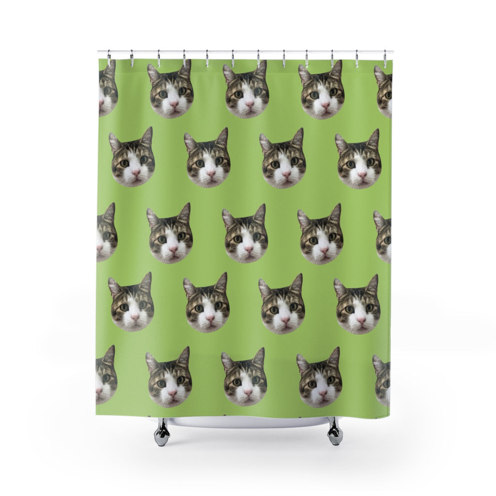 Custom Cat Shower Curtain